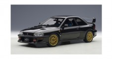 Subaru Impreza 22B with Carbon Fibre Bonnet Upgraded 1998 Black 1:18 AUTOart 78604