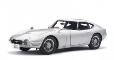 Toyota 2000 GT Coupe Silver 1:18 AUTOart 78748