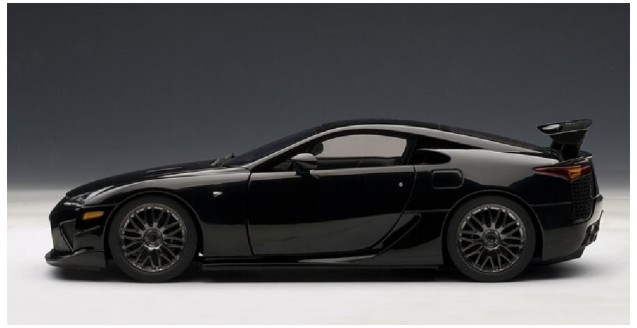 autoart 78838 lexus lfa nurburgring package black 1 18. Black Bedroom Furniture Sets. Home Design Ideas