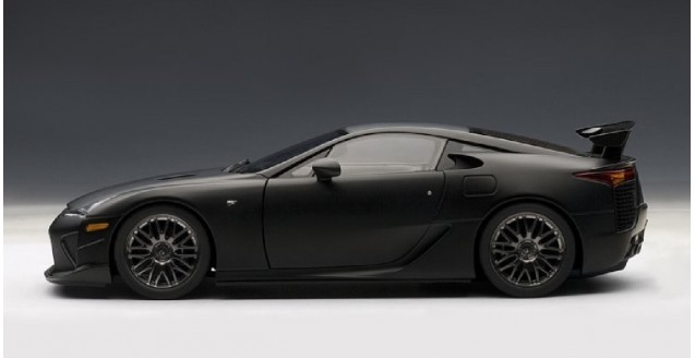 autoart 78839 lexus lfa nurburgring package matt black 1 18. Black Bedroom Furniture Sets. Home Design Ideas
