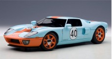 Ford GT LM Gulf Livery 2004 Blue 1:18 AUTOart 80513