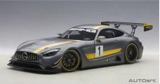 MERCEDES BENZ AMG GT3 PRESENTATION CAR Matt Grey 1:18 AUTOart 81530