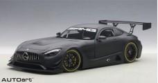 Mercedes Benz AMG GT3 Plain Body Version Matt Black 1:18 AUTOart 81532