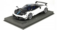 Pagani Huayra BC Met White with display 1:18 BBR Models BBR P18128BV