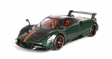 Pagani Huayra BC Green and Orange with Case 1:18 BBR Models BBR P18128CFG