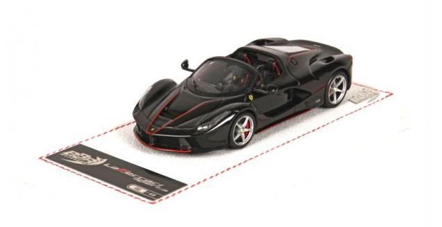 LaFerrari Aperta New black Daytona 1:43 BBR Models BBRC187AB