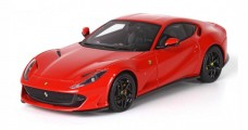 Ferrari 812 Superfast Red 322 Gloss Black Wheels 1:43 BBR Models BBRC198RCC