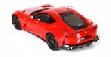 Ferrari 812 Superfast Red 322 Gloss Black Wheels 1:43 BBR Models BBRC198RCC