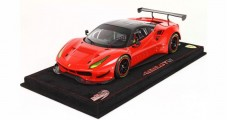 Ferrari 488 GTE 2017 Red Corsa 322 Carbon Roof Red with Case 1:18  BBR Models P18122CF1