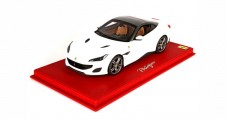 Ferrari Portofino Closed Roof Avus White with CASE 1:18  BBR Models P18157AWF