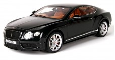 Bentley Continental GT V8 S Midnight Emerald Black 1:18 BBR Models P1886A