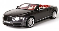 Bentley Continental GT V8 S Convertible Dark Grey Satin 1:18 BBR Models P1887B