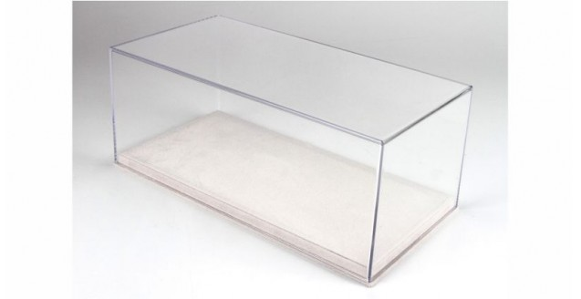 Alcantara Leatherette Base & Clear Display Case for 1:18 Scale BBR VET1804E1