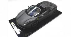 Ferrari 488 Spider Matt Black 1:12 BBR1206MB1