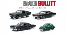 Bullitt (1968) Mustang Charger 1967 ford custom Classic VW Beetle Volkswagen 1:64 Scale Diorama Tin GREENLIGHT 59030-A