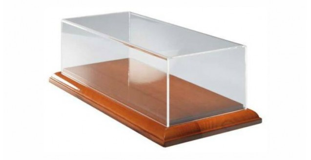 CMC Display Showcase wooden base clear perspex top , 1:18th Scale model cars CMC A004