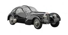 Bugatti Type 57 SC Atlantic 1938 Black 1:18 CMC M-085