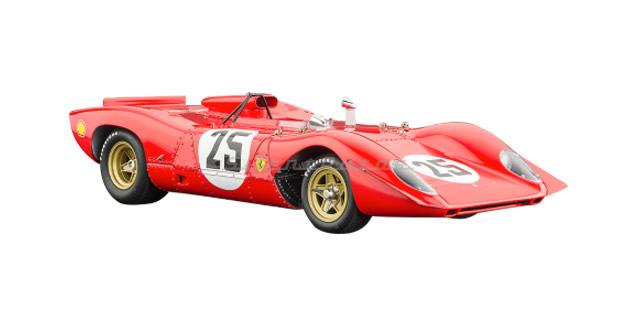 Ferrari 312p Spyder, Sebring #25 1969 Red 1:18 CMC M095