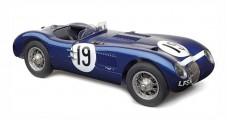 Jaguar C-Type 1954 Goodwood Member's meeting, Ecurie Ecosse #19 Jimmy Stuart Blue 1:18 CMC M-192