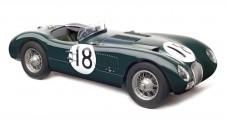 Jaguar C-Type, 24H France WINNER no18, 1953 British Racing green 1:18 CMC M-195