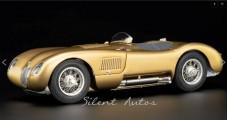 Jaguar C-Type 1952 Sondermodell Techno Classica 2020 GOLD 1:18 CMC M-214