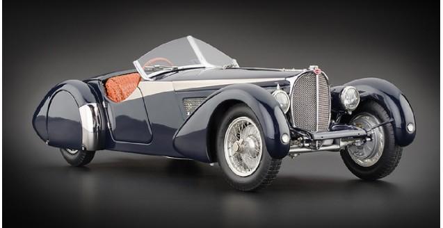 Bugatti 57 Sc Corsica 1938 Crocodile Blue 1:18 CMC M136