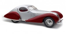"CMC Talbot-Lago Coupé T150 C-SS Figoni & Falaschi ""Teardrop"" 1937-39 Silver / Red 1:18 CMC M165"