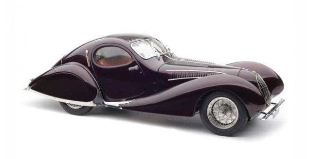 "CMC Talbot-Lago Coupé T150 C-SS Figoni & Falaschi ""Teardrop"" 1937-39 Memory Edition Metallic Aubergine 1:18 CMC M-179"