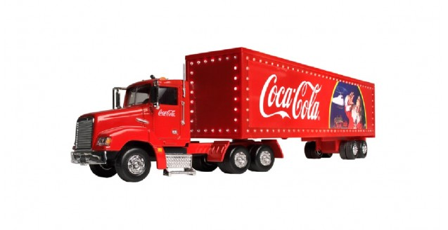 Coca-Cola Christmas Truck With Light Up Trailer 1:43  Motorcity Classics