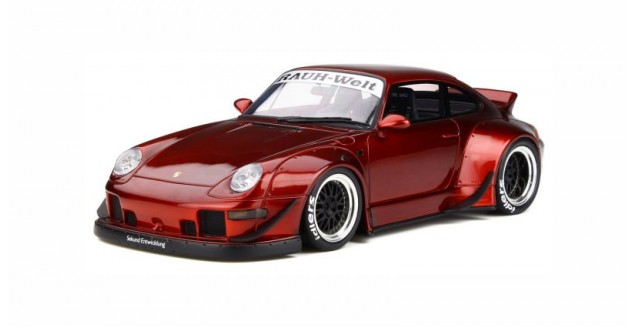 Porsche 993 RWB Ducktail Candy Red 1:18 GT Spirit GT759