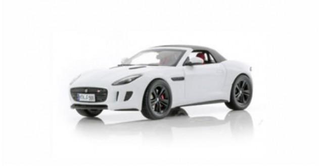 Jaguar Die Cast F-Type V8 S Soft Top White 1:43 PremuimX PRD303