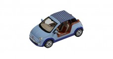 Fiat 500 Tender Two Castagne Milano Blue 1:43 IXO PR0255