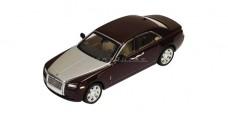 Rolls Royce Ghost Metallic Bordeaux Burgundy/Silver 1:43 IXO MOC150P
