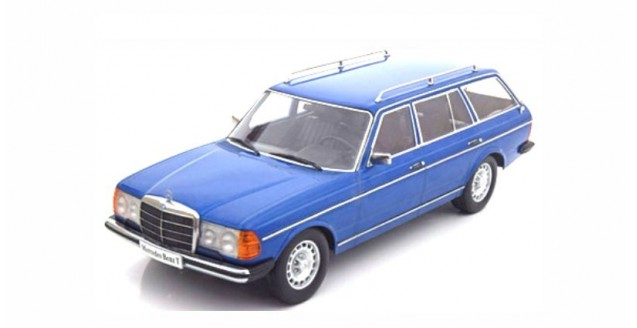 Mercedes-Benz 250T W123 Kombi 1978-82 Blue Metallic 1:18 KK-Scale KKDC180091