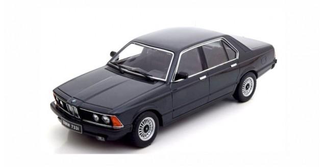 BMW 733i E23 1977 Black Metallic 1:18 KK-Scale KKDC180101