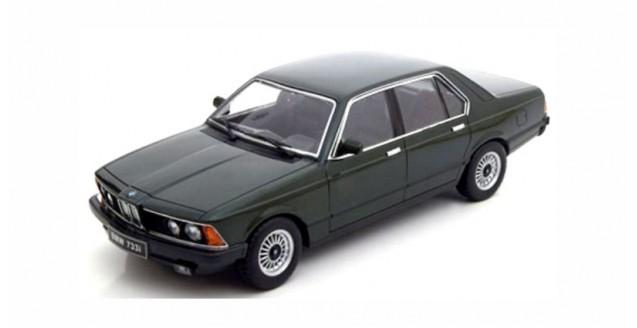 BMW 733i E23 1977 Dark Green Metallic 1:18 KK-Scale KKDC180103