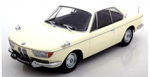 BMW 2000 CS coupe 1965 Cream Hite 1:18 KK-Scale KKDC180121