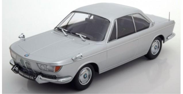 kk scale kkdc180123 bmw 2000 cs coupe 1965 silver 1 18 scale. Black Bedroom Furniture Sets. Home Design Ideas