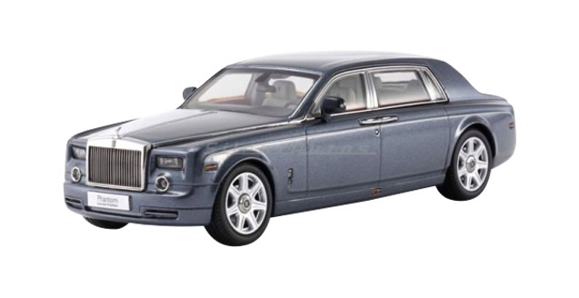Rolls Royce Phantom Extended Wheelbase Blue 1:43 Kyosho KY05542LBL