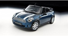 BMW Mini Cooper Convertible R57 Blue 1:18 Kyosho 08749BL
