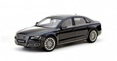 Audi A8 W12 2010 Havana Black 1:18 Kyosho 09231HBK