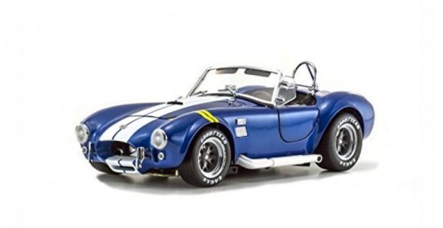 AC Cobra Blue with Yellow Line Shelby Cobra 427SC 1:18 Kyosho 8045BLY