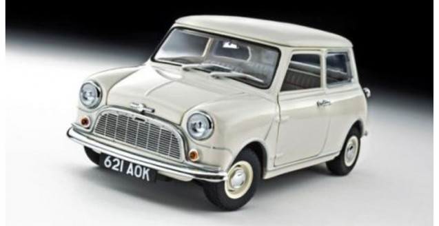 Morris Mini Minor 1959 White 50Th Anniversary Edition 1:18 Kyosho 8105W