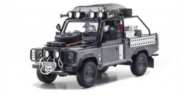 Land Rover Models >> Land Rover Defender Tomb Raider Edition Grey 1 18 Kyosho 8902tr