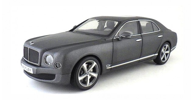 Bentley Mulsanne Speed 2014 Dark Grey Satin 1:18 Kyosho 8910DGS