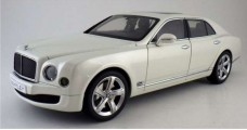 Bentley Mulsanne Speed 2014 Ghost White 1:18 Kyosho 8910GHW