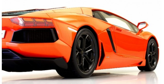 Bburago Street Fire 1:43 Lamborghini Aventador lp700-4 roadster-en su embalaje original bo9