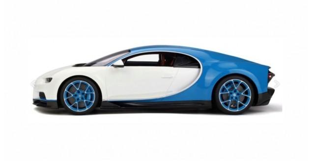 Kyosho KSR08664W-Z Bugatti Chiron White Blue 1:12