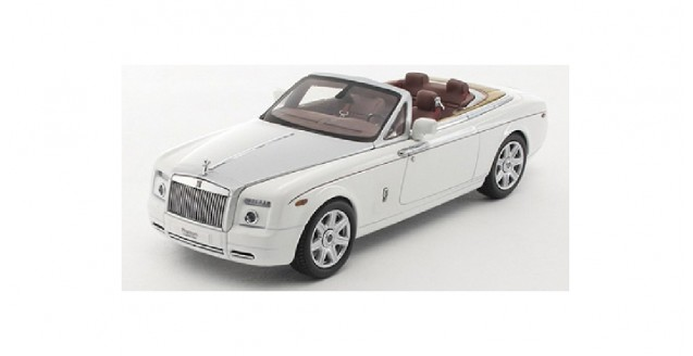 Rolls Royce Phantom Drophead Coupe White 1:43 Kyosho KY05532EW