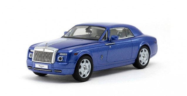 Rolls Royce Phantom Coupe Blue 1:43 Kyosho 05531ABL